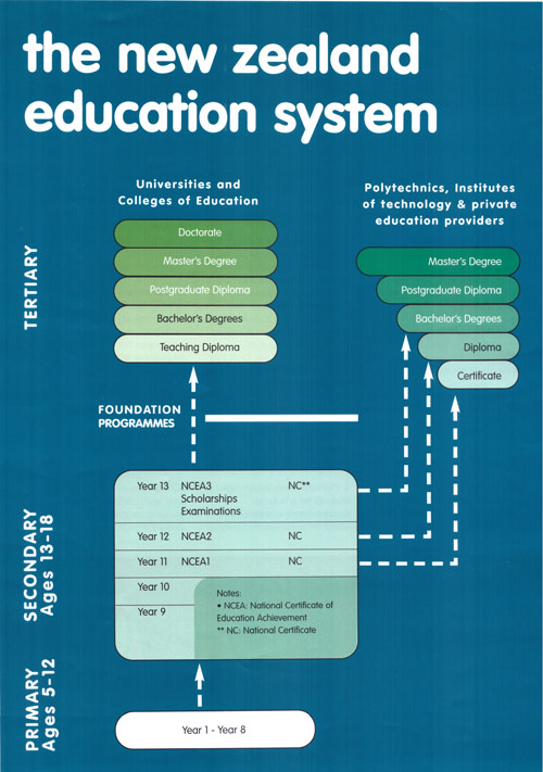 Education System in New Zealand from primary to tertiary